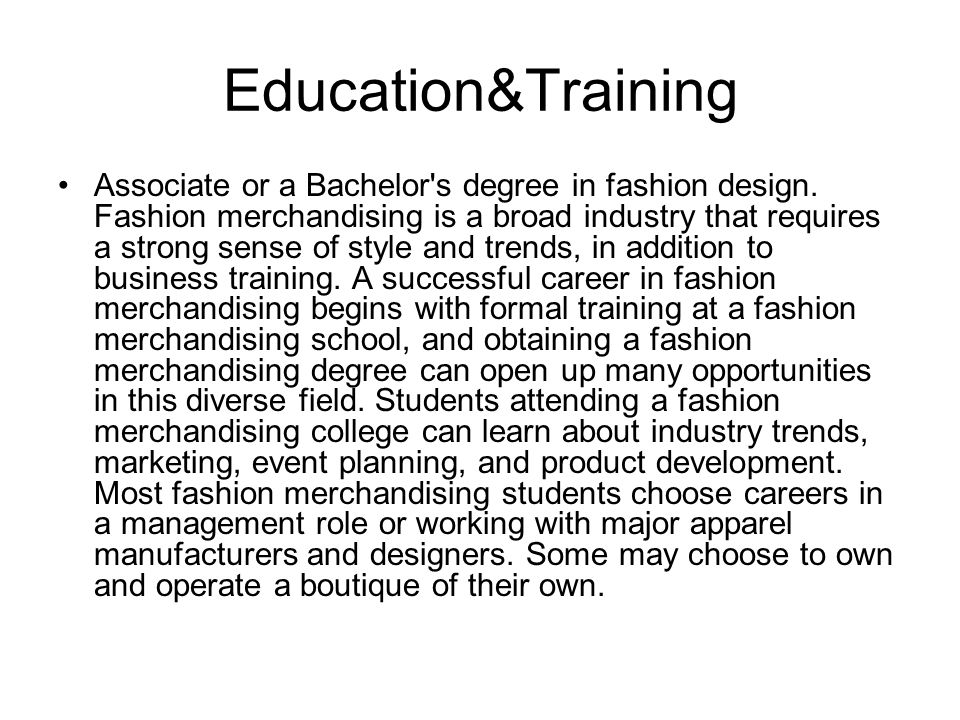 What Exactly is Fashion Merchandising Anyway? 72