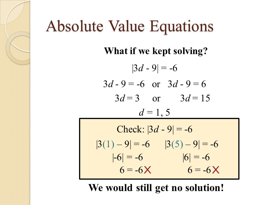 Writing Absolute Value Equations