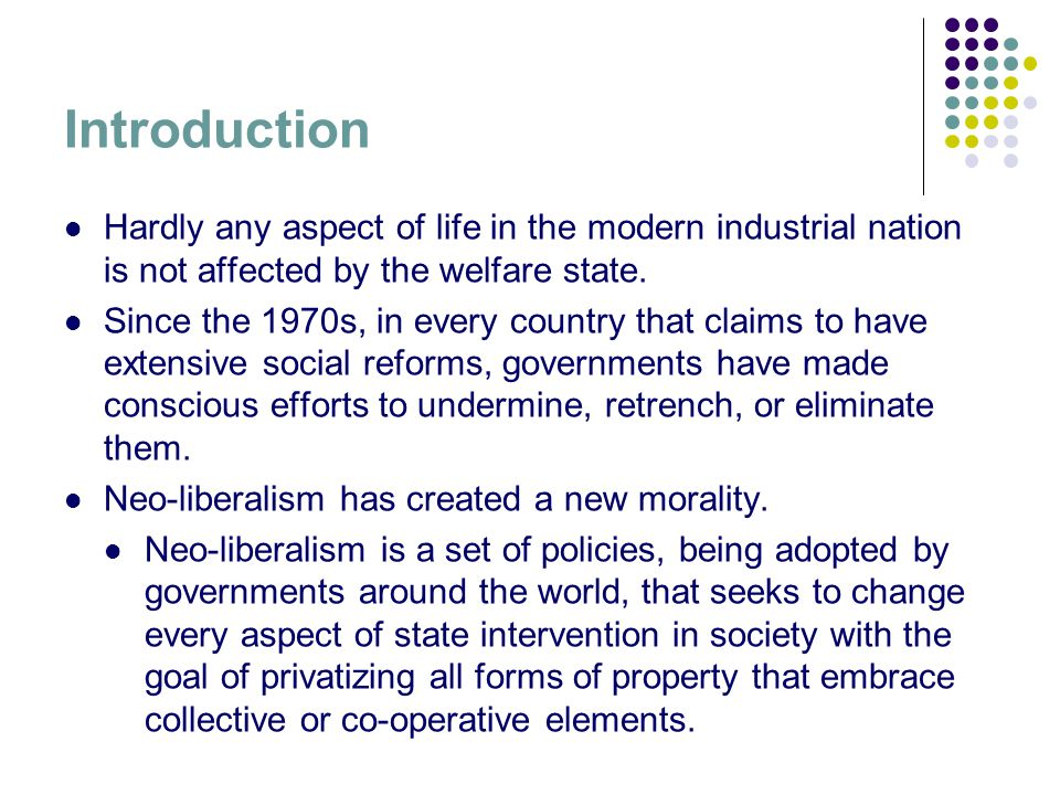 welfare state: an introduction to social policy essay 2017-11-23 social policy and welfare regimes typologies: any relevance to  and social democratic welfare state regimes  social policy, welfare regimes introduction.