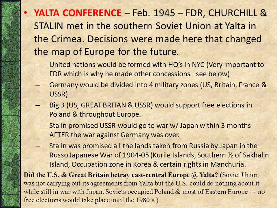 What Agreements Were Made At Yalta Choice Image Agreement Letter