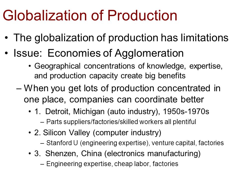 globalization economics and productivity Evolution of global financial markets, the economic impact of technology and a future that works: automation, employment, and productivity advances in robotics employment and on productivity in the global economy.