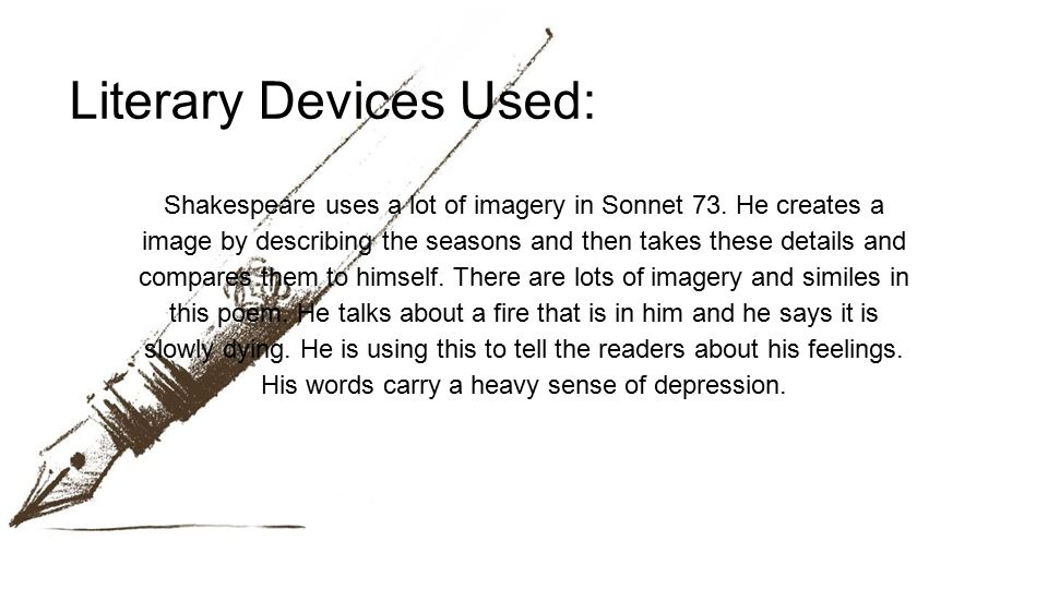 Literary Devices Used: