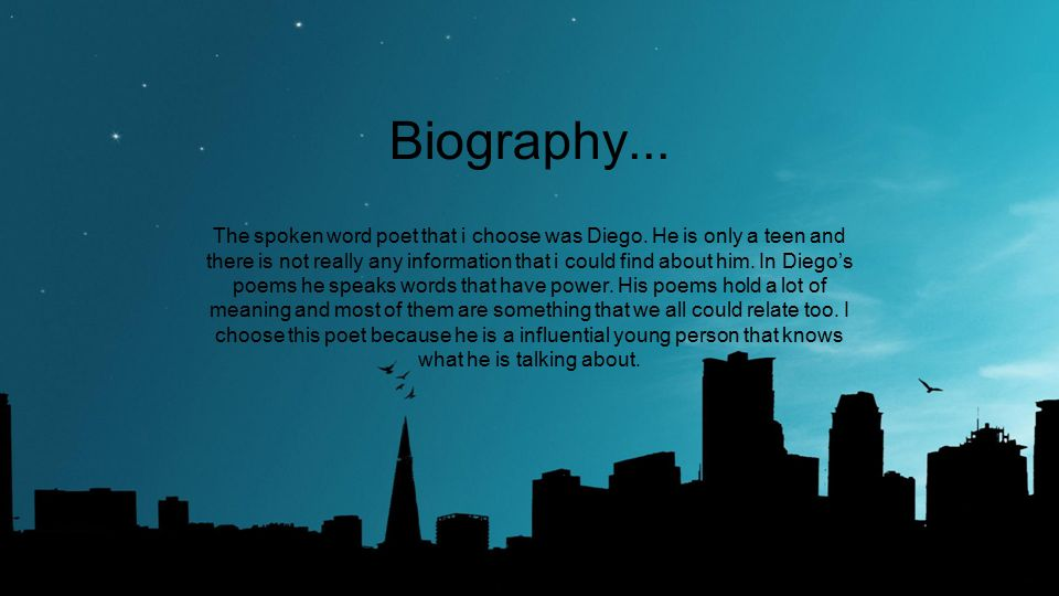 Biography...