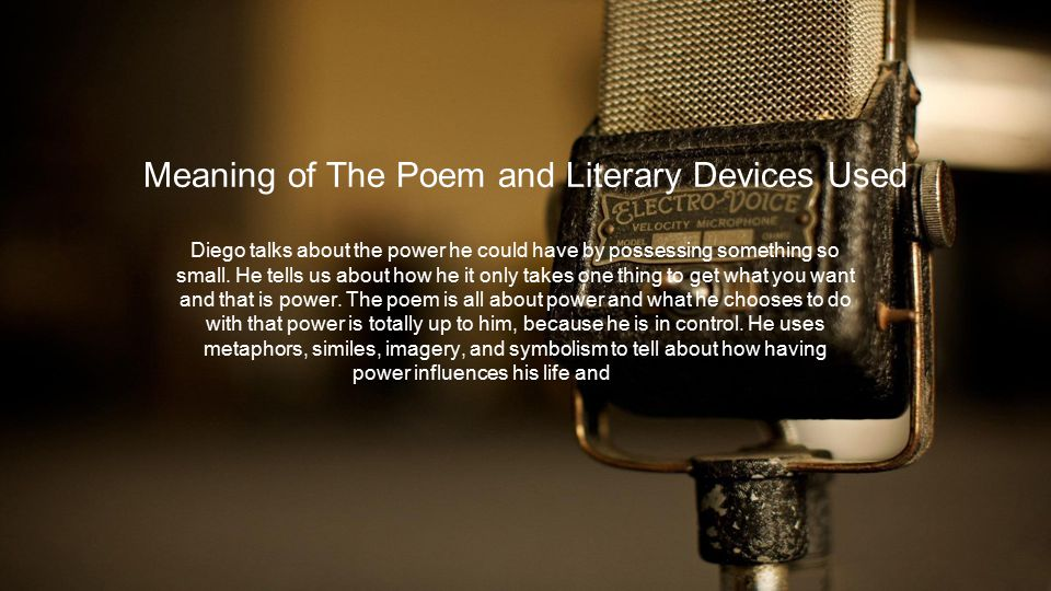 Meaning of The Poem and Literary Devices Used