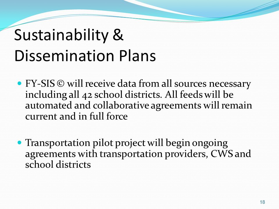 Sustainability & Dissemination Plans