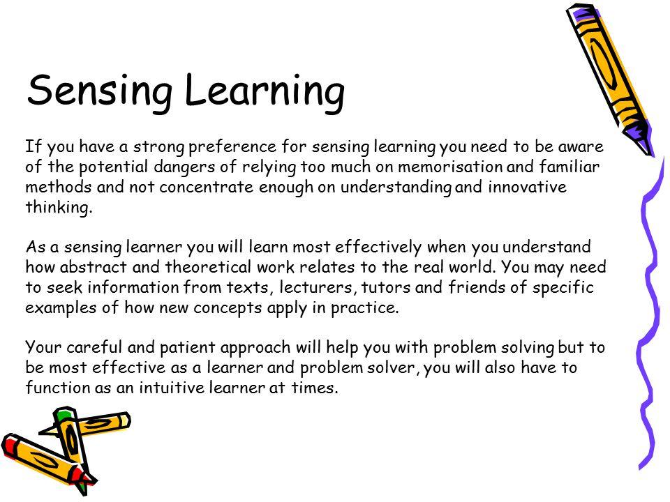 Sensing Learning