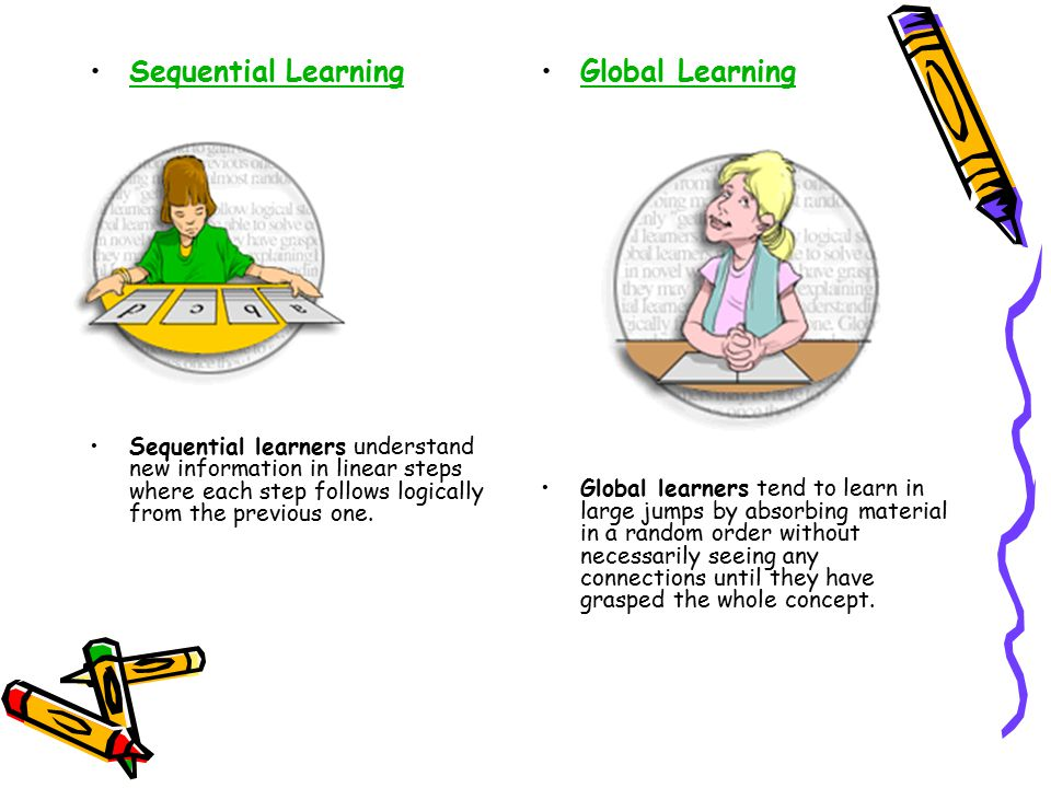 Sequential Learning Global Learning