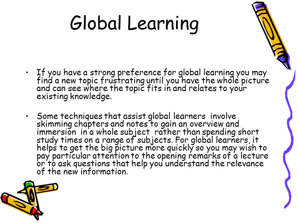 Global Learning