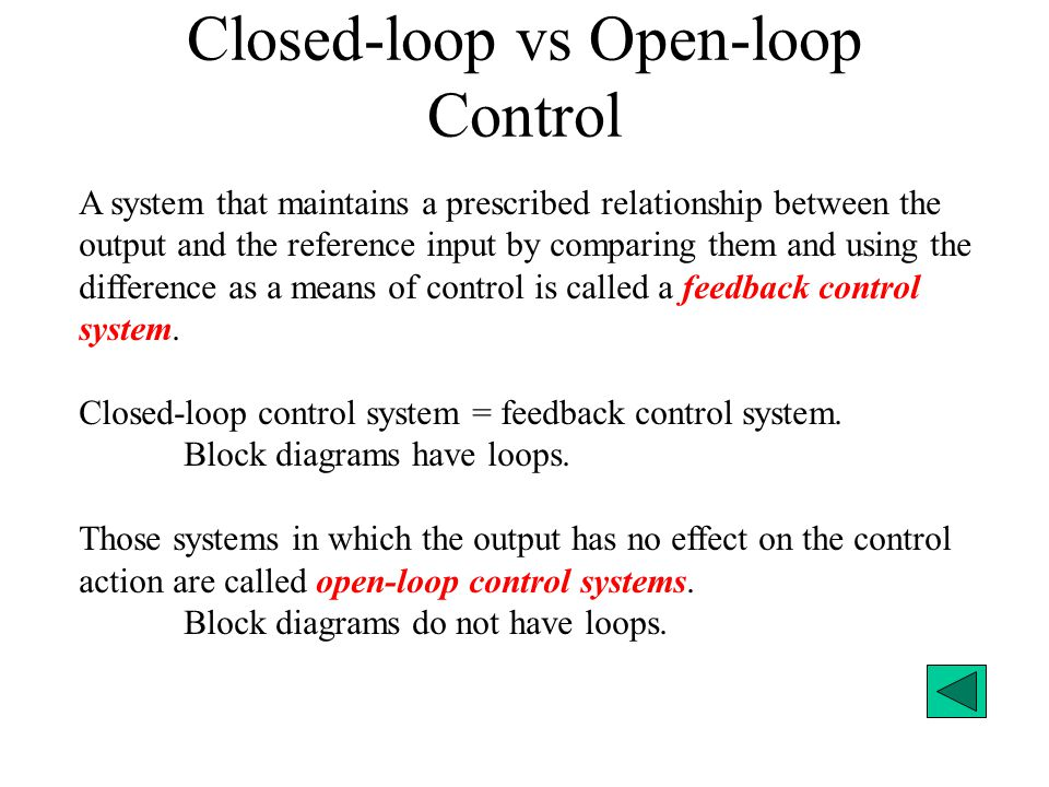 open and closed loop control system 2 essay