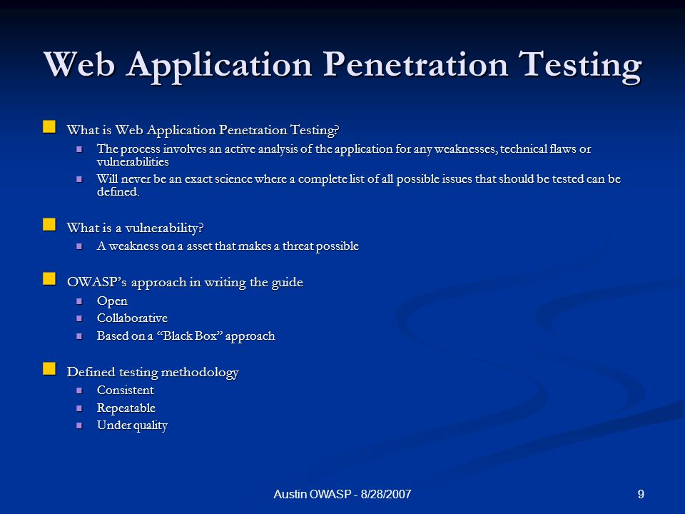 website penetration testing vulnerability testing software