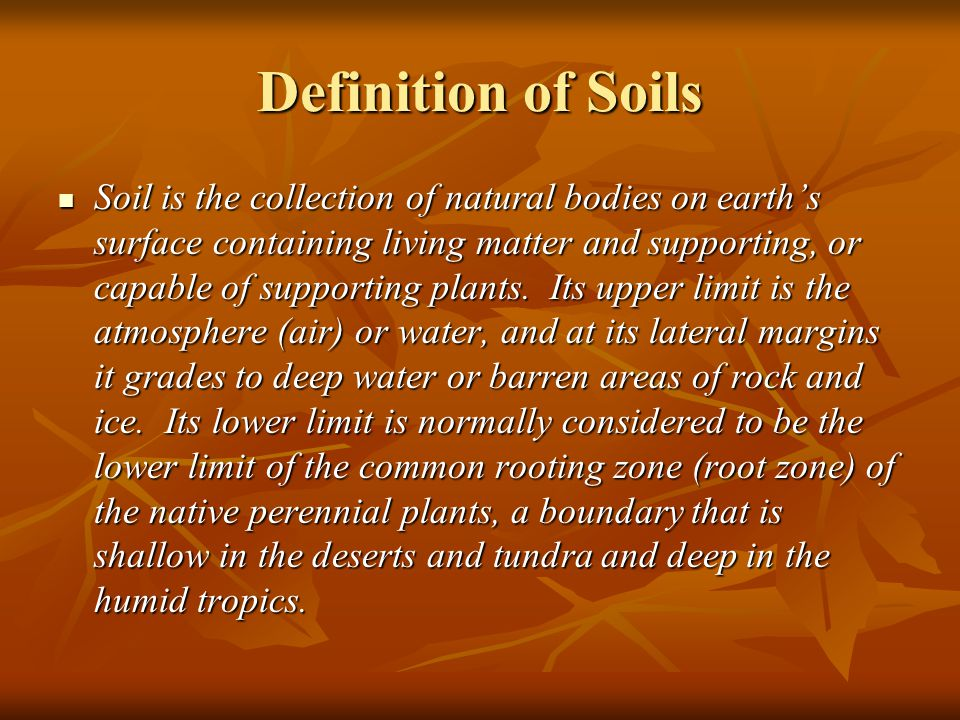 Introduction to soils laboratory exercise 1 ppt video for What is soil definition