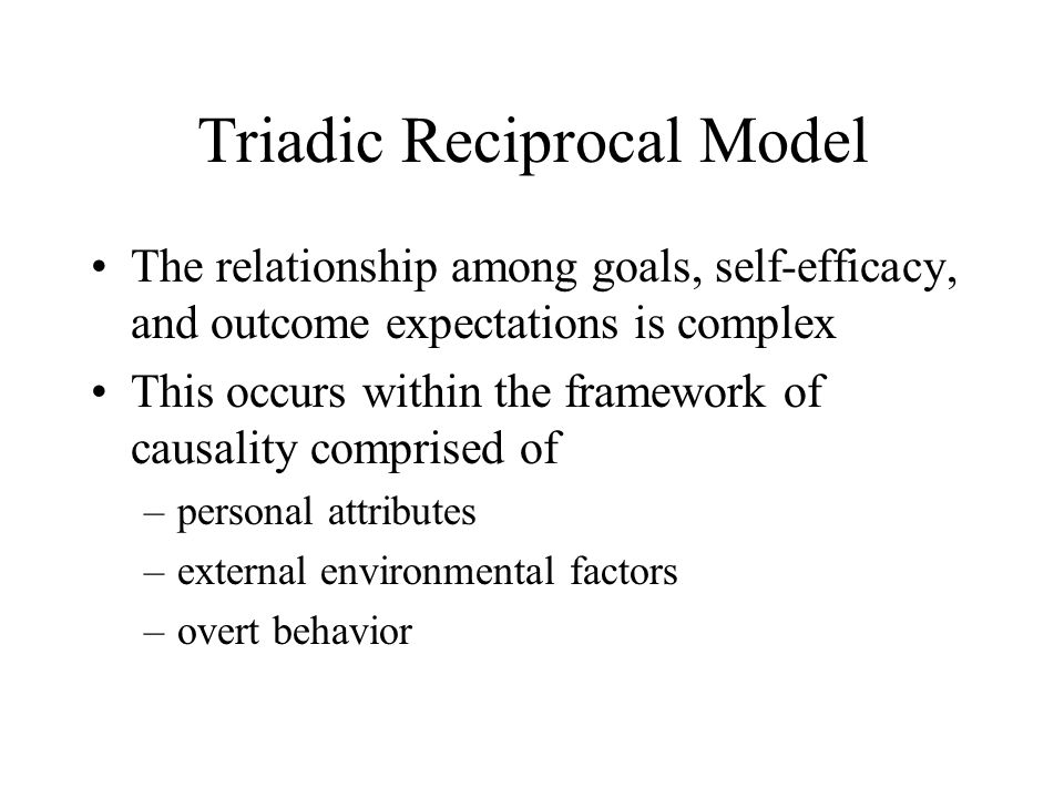 triadic reciprocal relationship between behavior