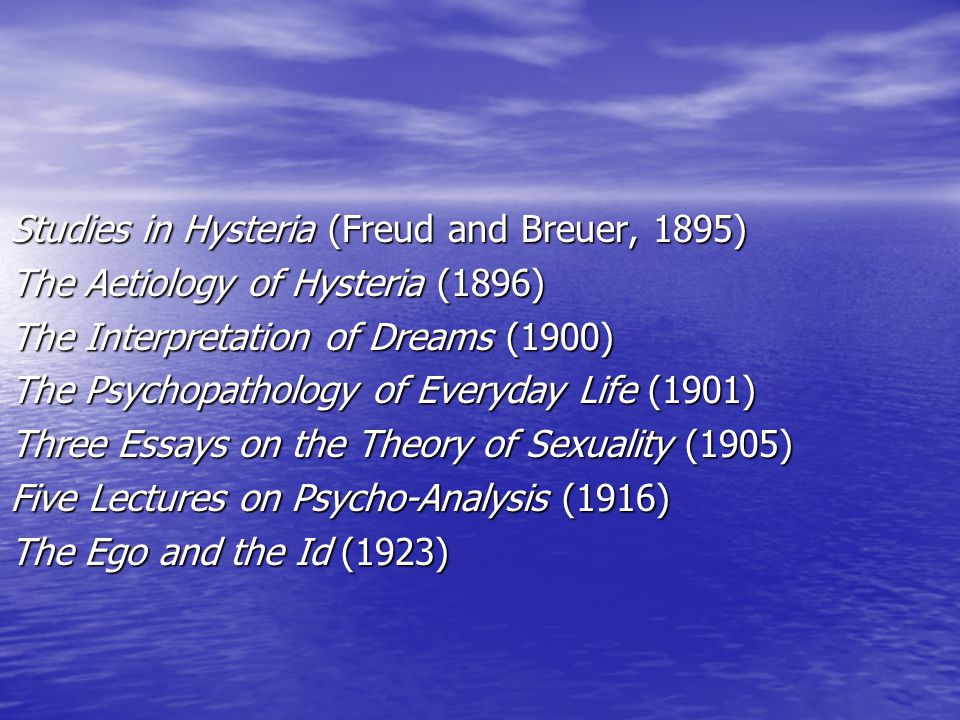 essay on sigmund freud theories You May Also Find These Documents Helpful