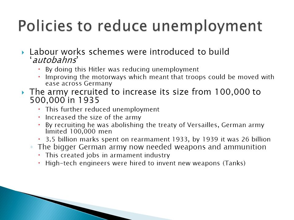 policies for reducing unemployment Which economic policies can be used to reduce unemployment.