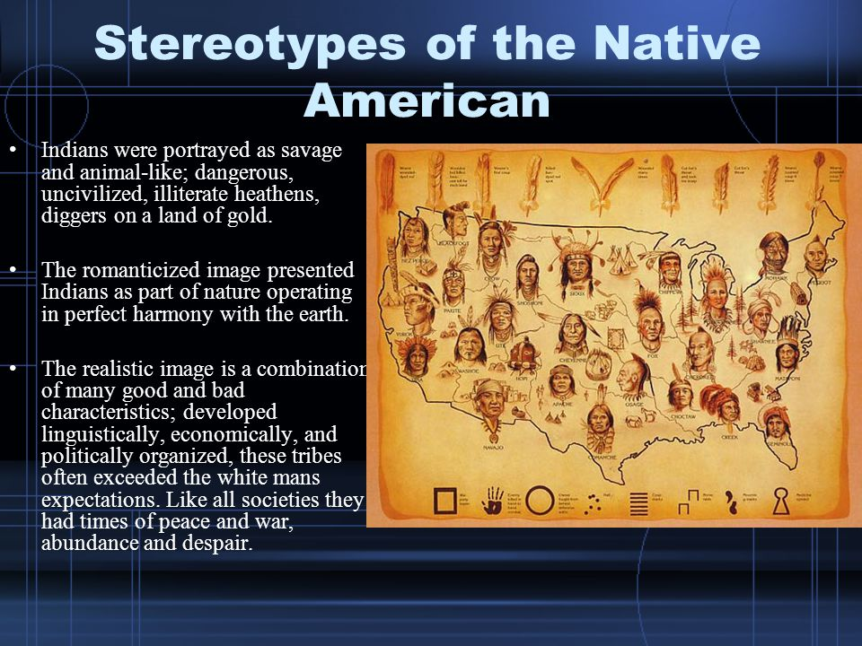 stereotypical facial features of native americans