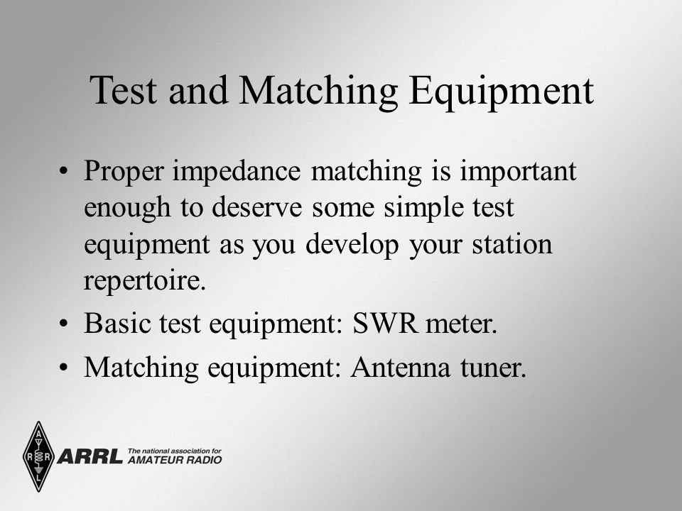 Test and Matching Equipment