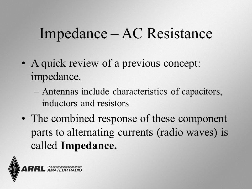 Impedance – AC Resistance