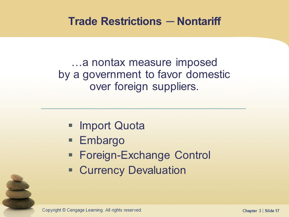 currency trading restrictions should be removed This section introduces restrictions on ownership of companies by foreign investors as well as currency exchange controls.