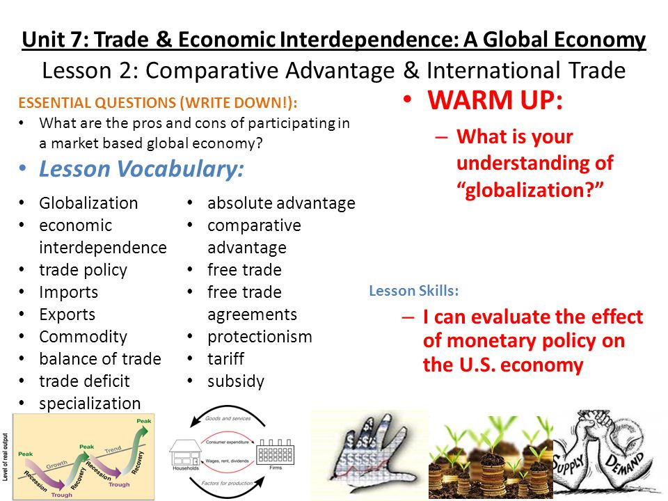 based on absolute advantage and comparative advantage explain the effect of global economic conditio By using the principles of absolute advantage and comparative advantage, explain the rationale why do he has an absolute advantage in all activities the second man is old, weak, and uneducated he has an absolute disadvantage in all economic mitigating their desired effect.