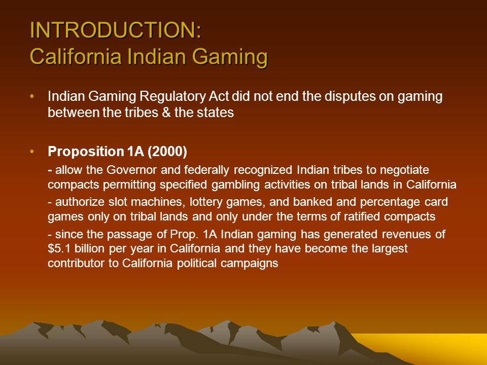 Indian Gaming Compacts, Elections and Bureaucrats – Oh My!