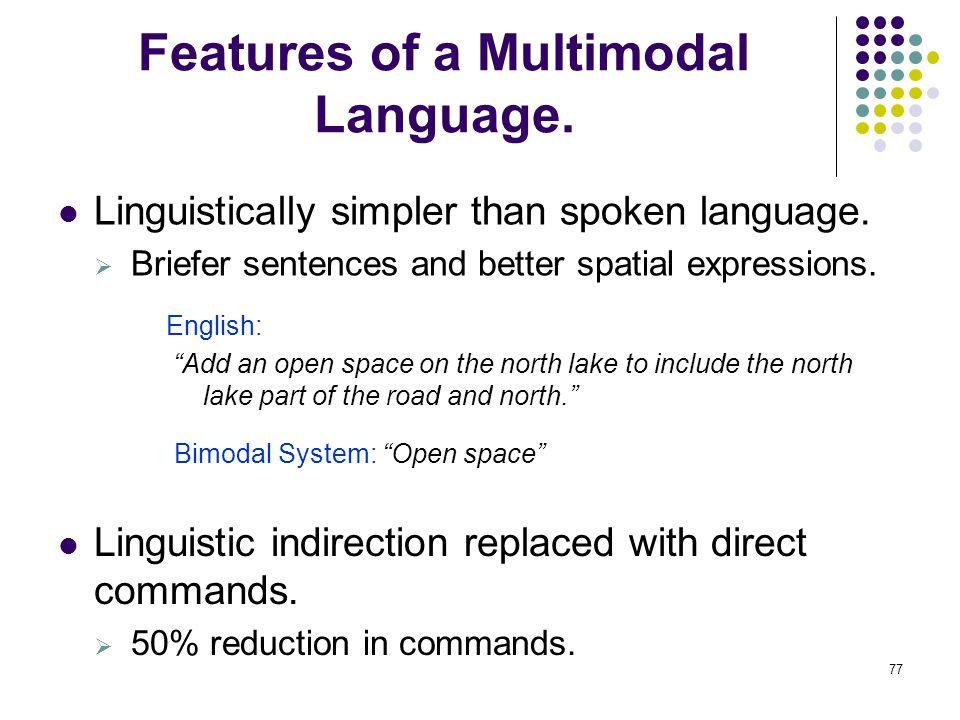english spoken language features