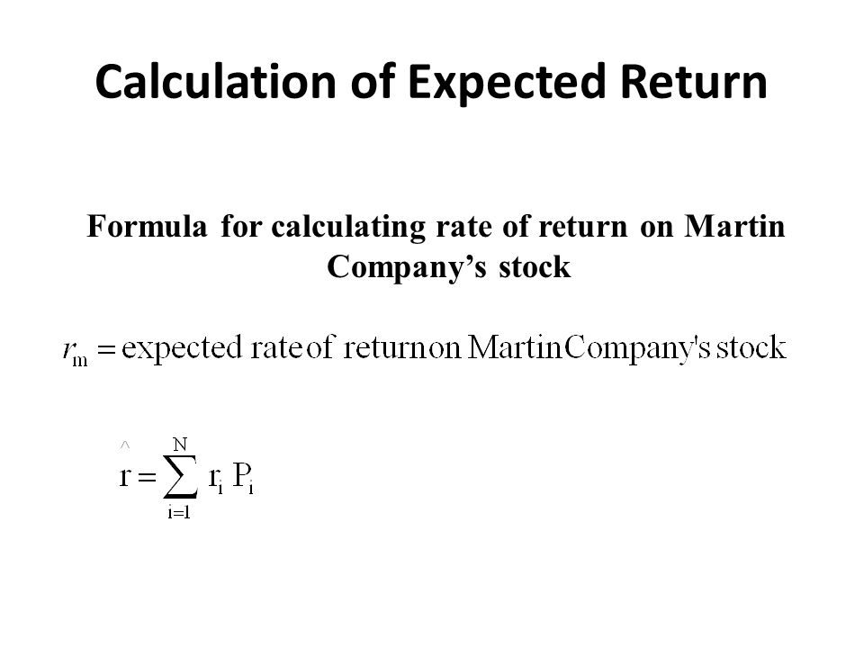 What is Expected Return?
