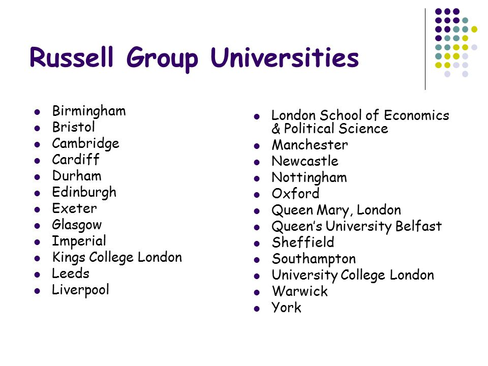 Russell Group Universities