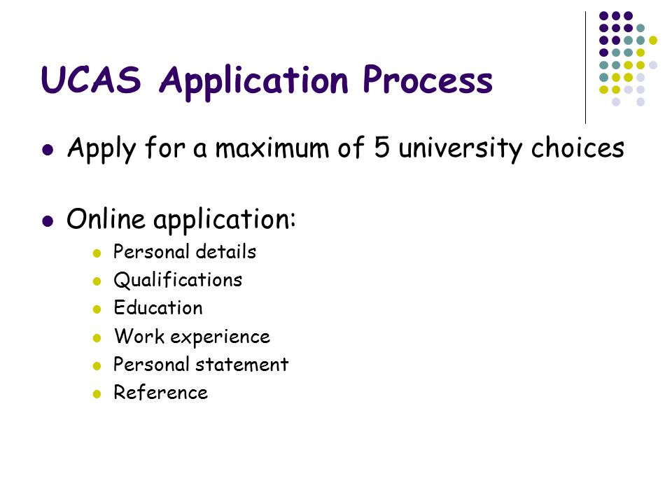 UCAS Application Process