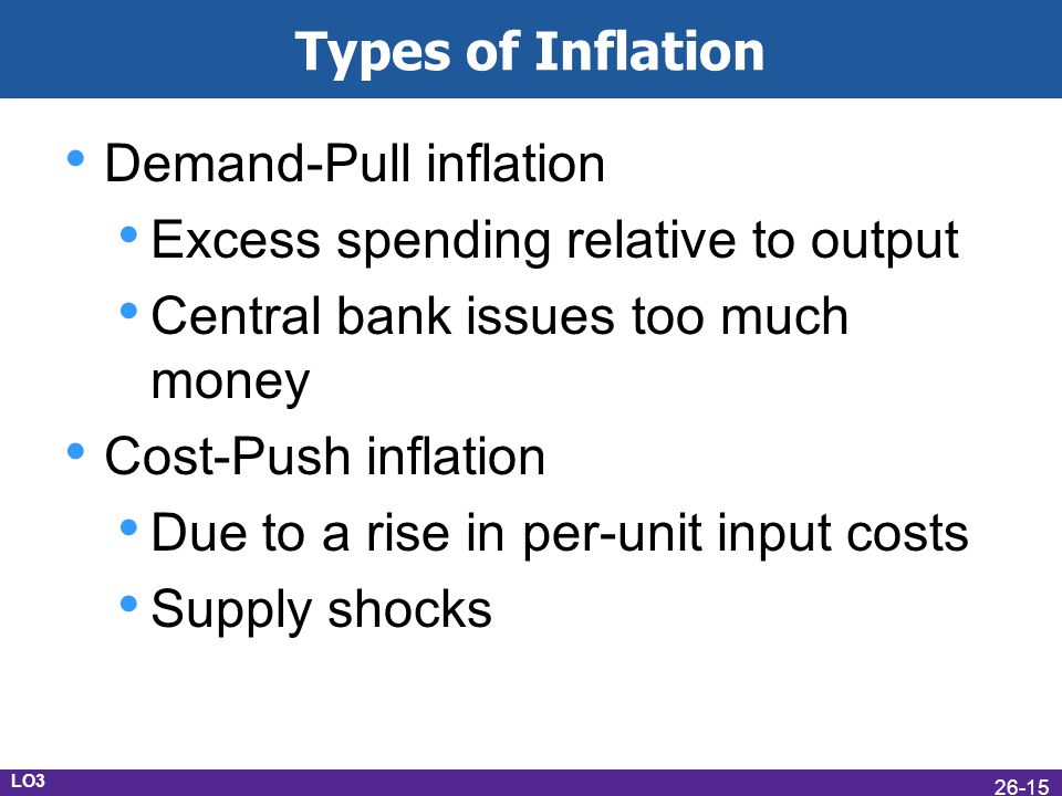 Demand-Pull inflation Excess spending relative to output