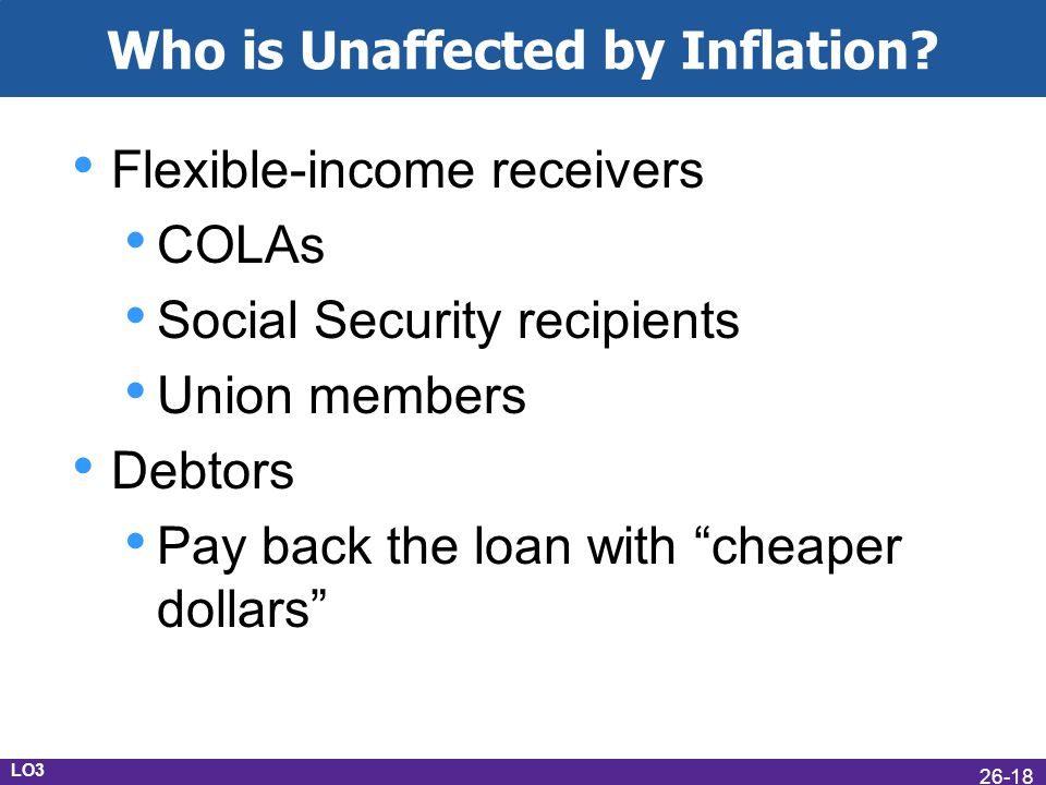 Who is Unaffected by Inflation