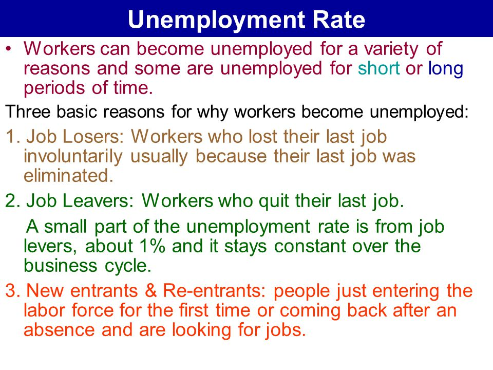 reasons for unemployment To collect unemployment benefits, employees must be out of work through no fault of their own workers who lose their jobs in a layoff are clearly eligible for benefits, as are most employees who are fired for reasons other than serious misconduct.