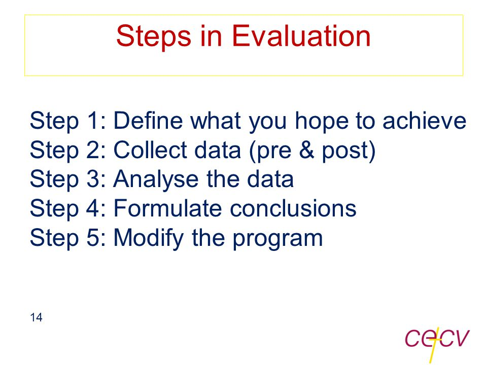program outcome evaluation a step-by-step handbook