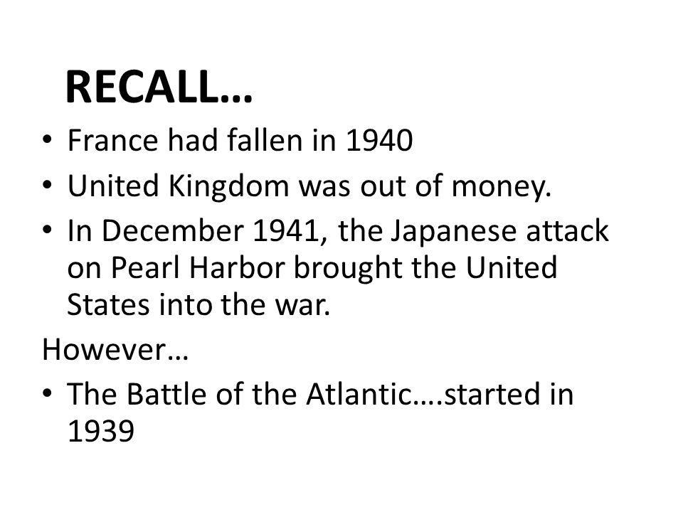 The Battle of the Atlantic ppt video online download – Pearl Harbor Worksheet