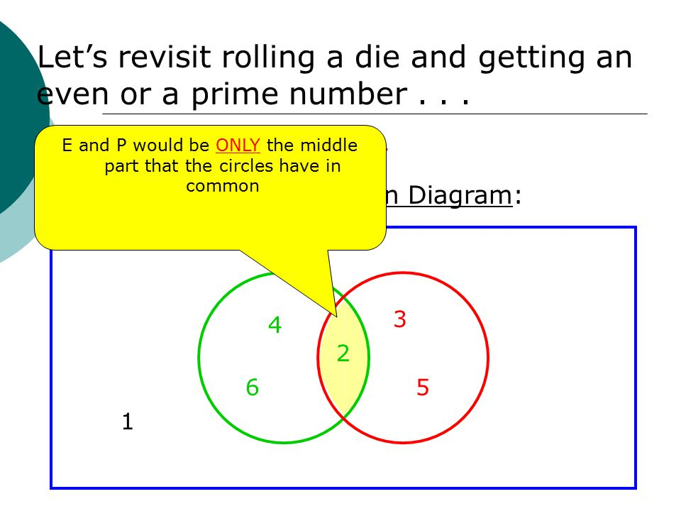 Venn diagrams and probability target goals i can use a venn e and p would be only the middle part that the circles have in common ccuart Images