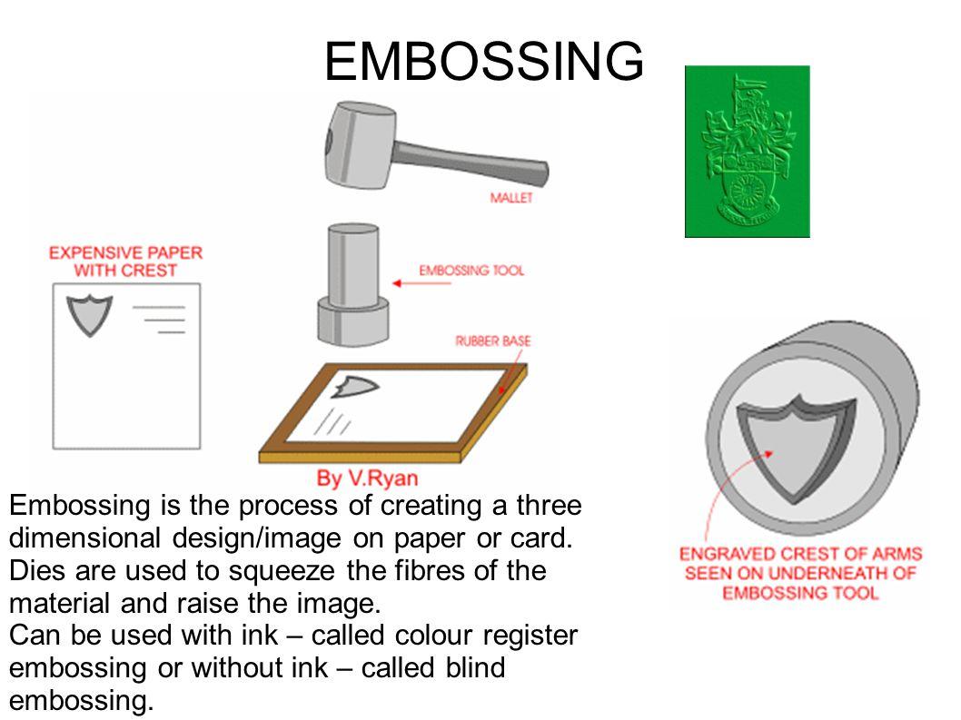 Hasil gambar untuk paper embossing process