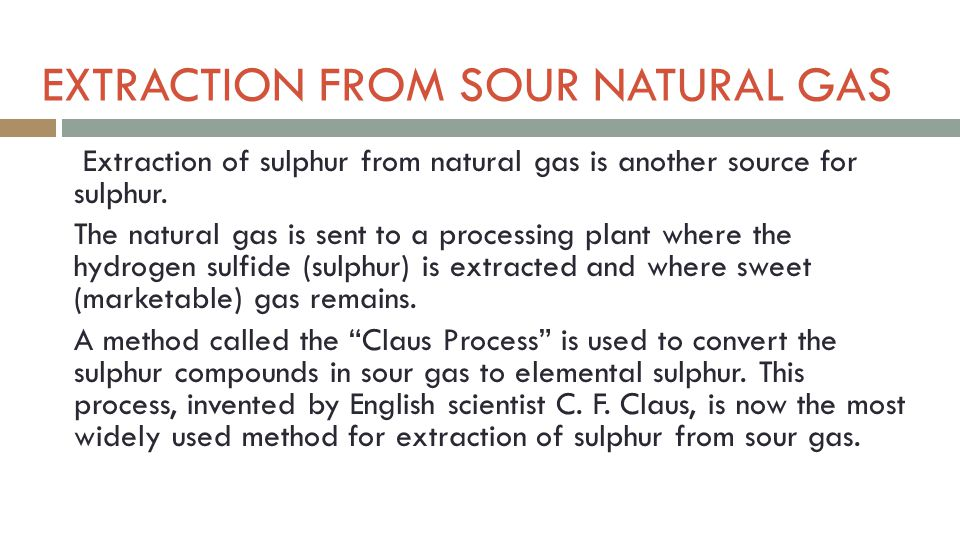 LECTURE 9 SULFUR AND SULFURIC ACID - ppt video online download