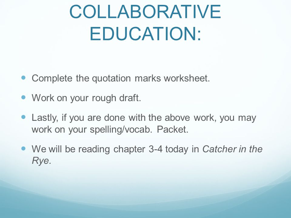Collaborative Teaching For Special Education ~ Eq how do great writers publish a narrative essay ppt