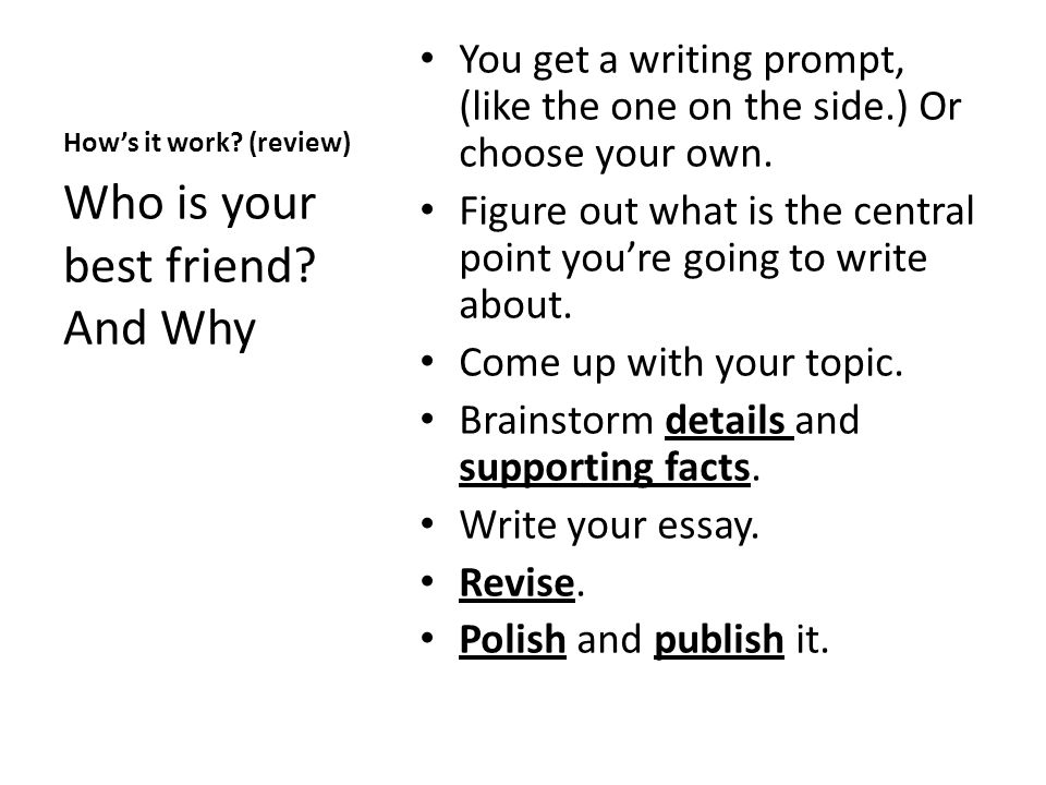 writing prompts for student essays Wrap overview new wriit library to access prompts, annotated and scored student essays student writing these prompts require students to complete a.