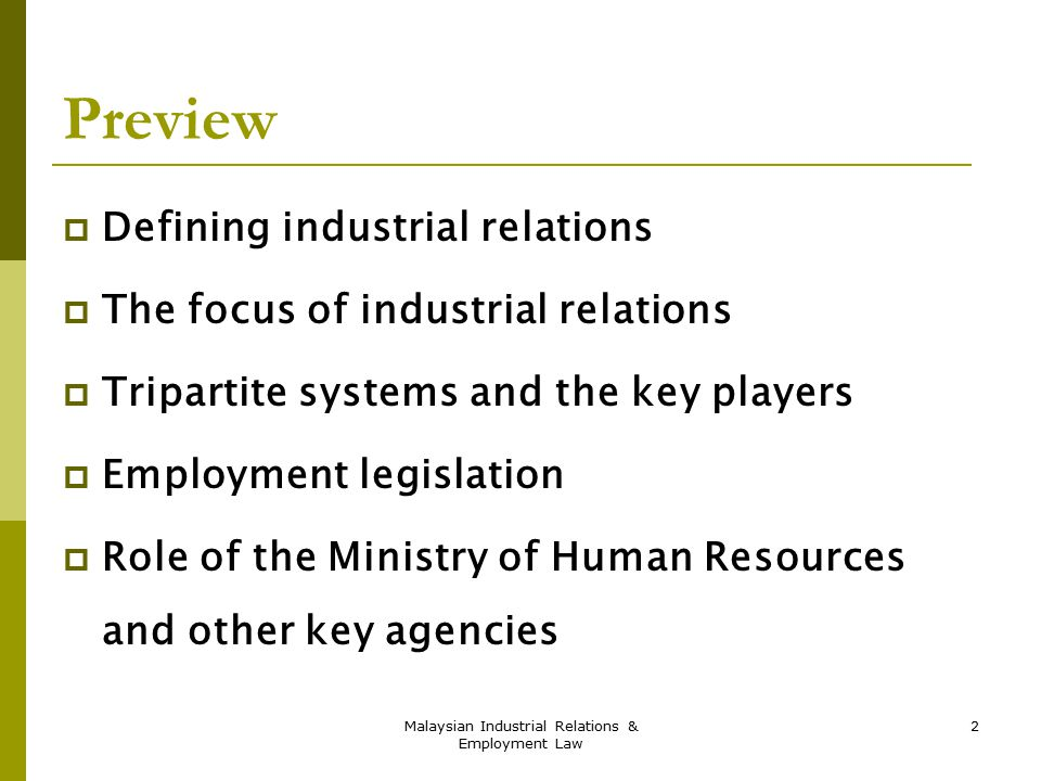 the role of industrial relations Industrial relations in south africa the reformist and institutional economists (38) the twentieth century (40) the twenty-first century (40) the role of the state 41.