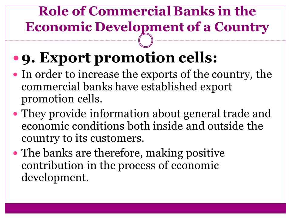 role of commercial banks in the