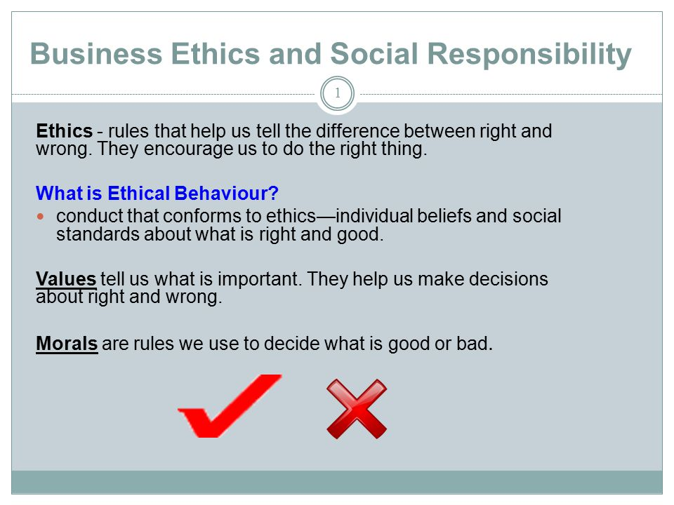 discuss the social responsibility of business