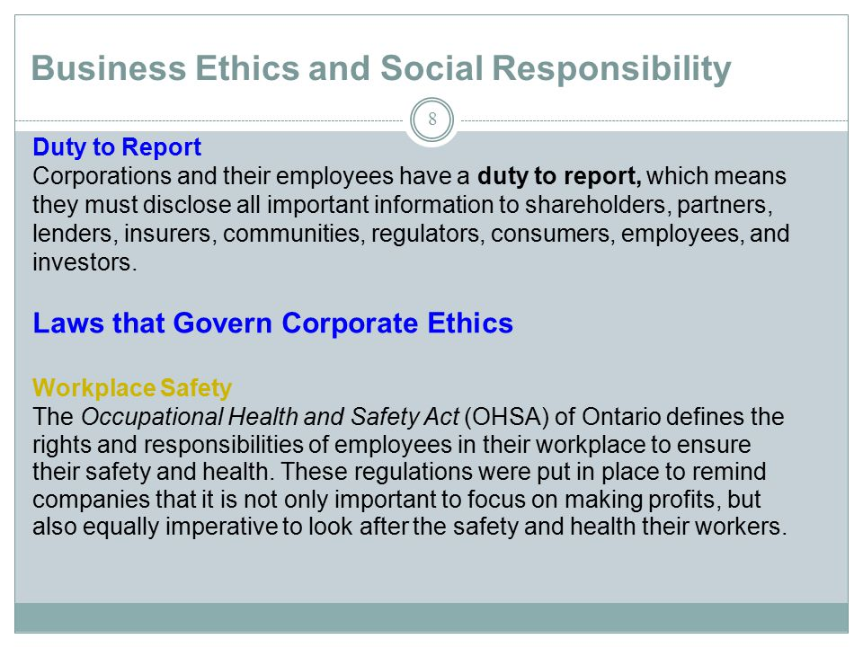ethics corporate social responsibility Corporate social responsibility and ethics suggested topic or you can choose a research of your own that you have an interest in approval must be gotten before an independent research is started choose a topic which interests and challenges you.