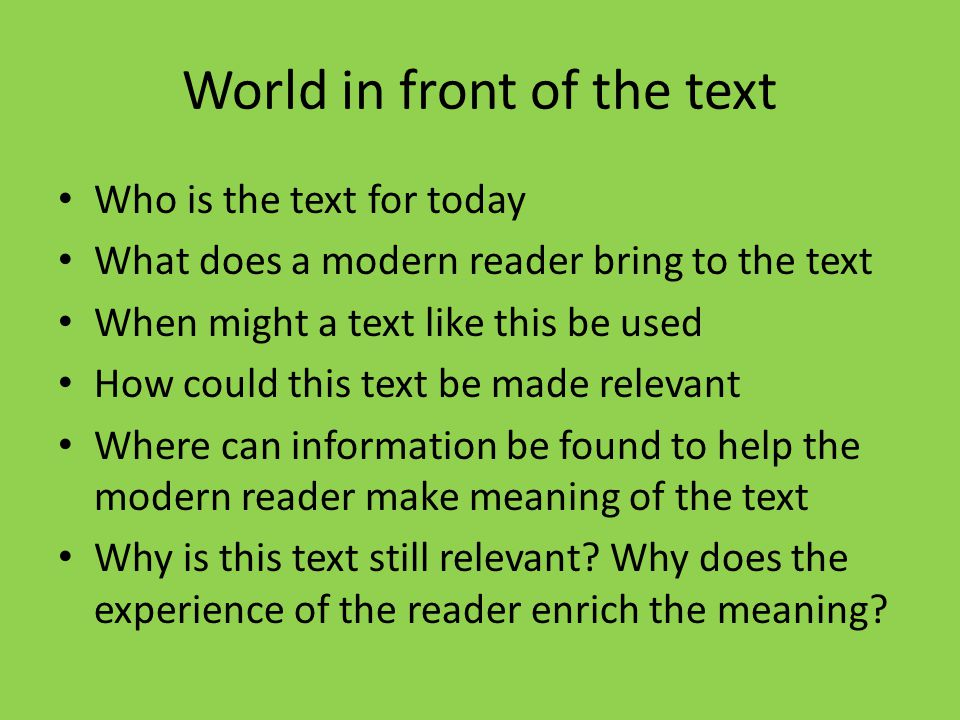 Three Worlds Of The Text Ppt Video Online Download
