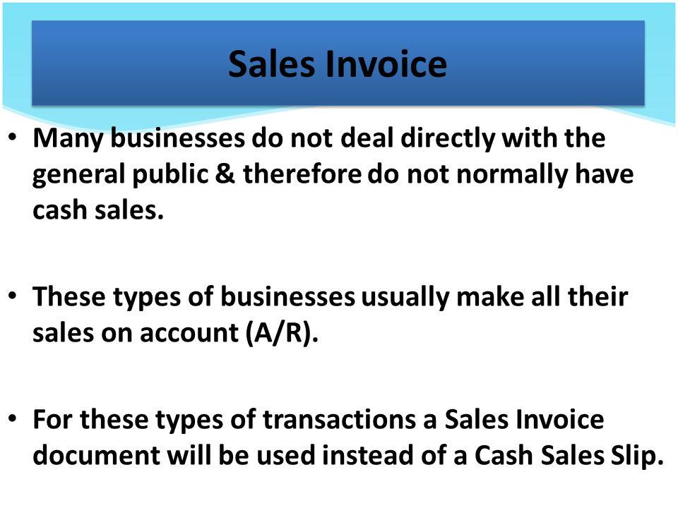 cash sales invoice