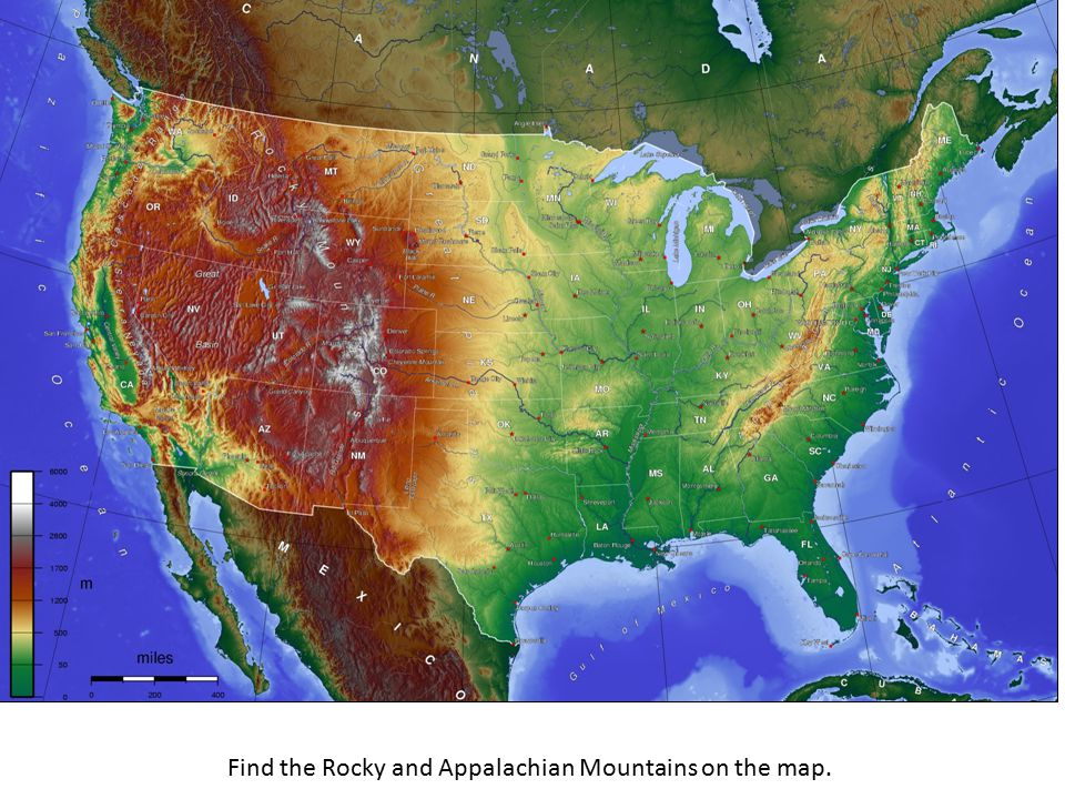 Mountain Ranges Of The United States Ppt Video Online Download - United states mountain range map