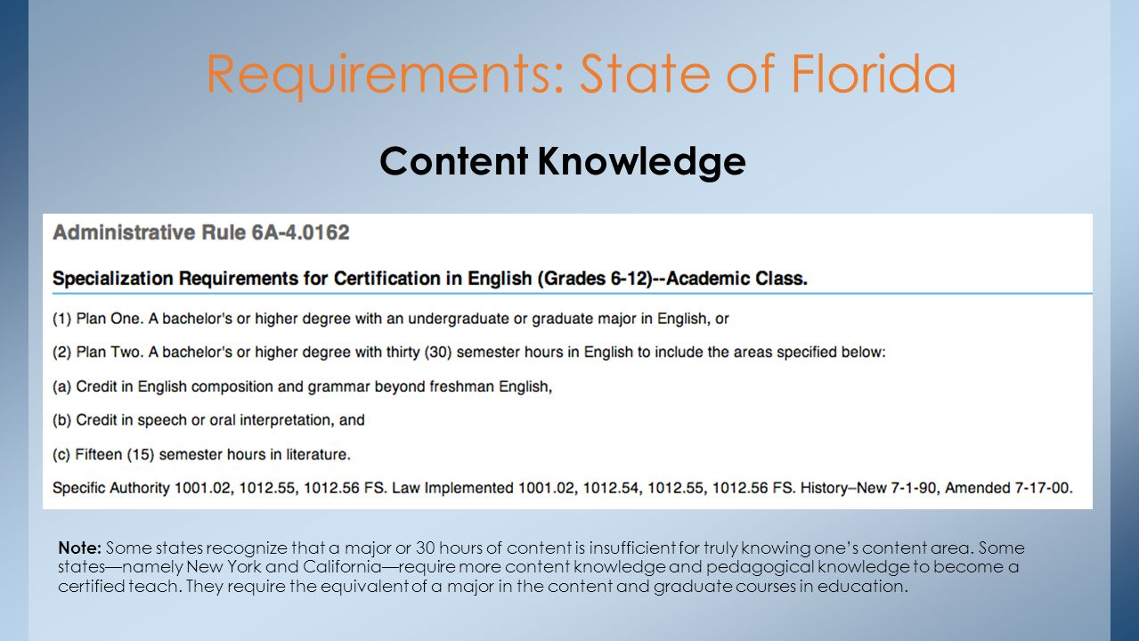 Teaching the english language arts ppt download requirements state of florida 1betcityfo Image collections