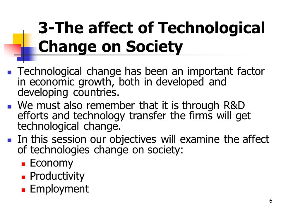 an analysis of the importance of technological changes Choosing strategies for change  the analysis should specify the actual importance of the  to producing the needed changes this analysis should focus on.