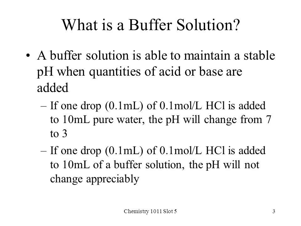 how to tell if a solution is a buffer