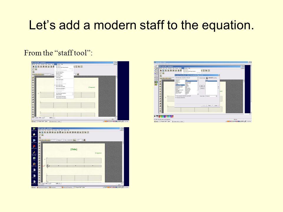 how to add bracket staffs in finale