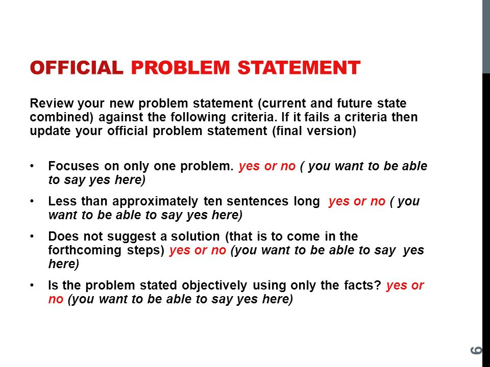 problem statement of project Project statement samples the project statement is the central element of a fulbright application, whether for teaching or for research here, in only five pages.